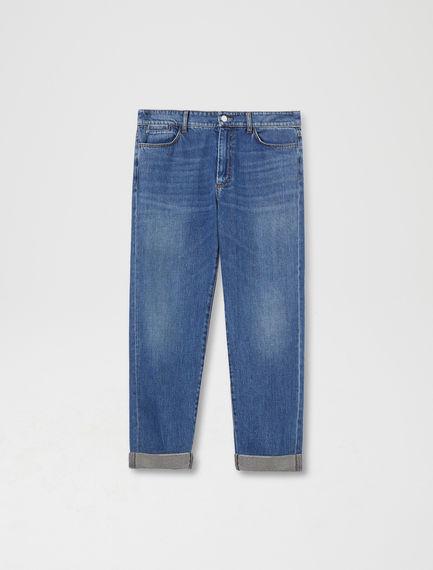 Laminated Cuff Boyfriend Jeans