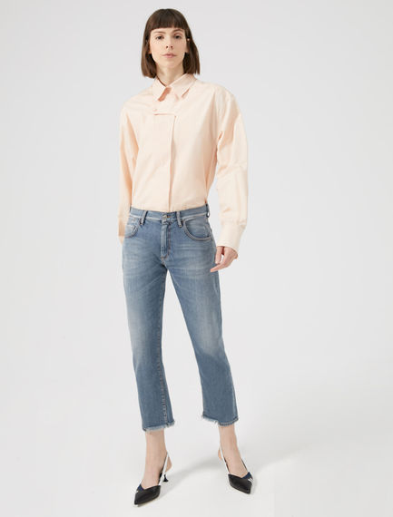 Cropped & Frayed Slim Jeans Sportmax
