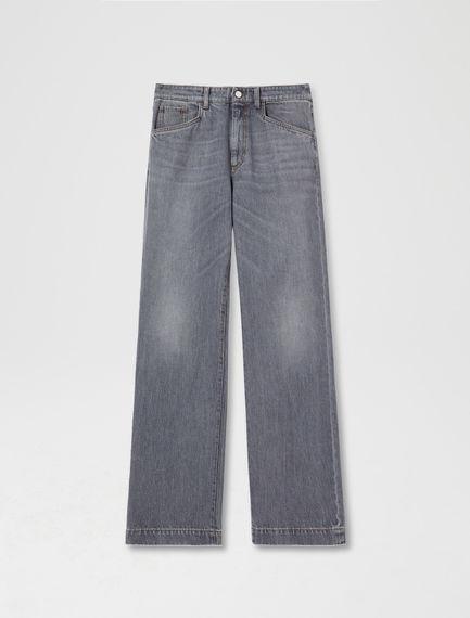 Grey Wide Leg Jeans