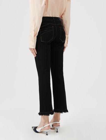 Frayed Kick-Flare Jeans