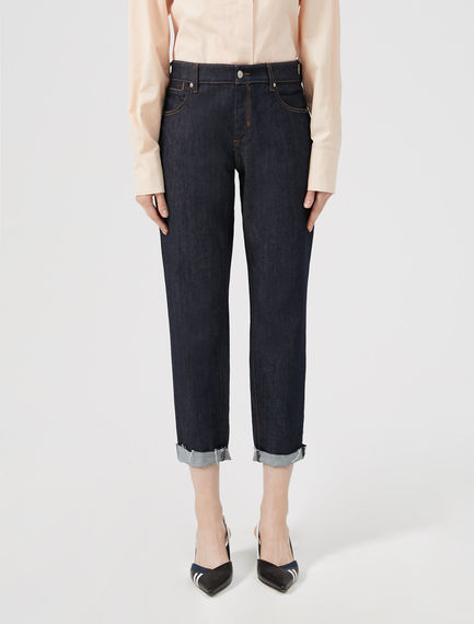 Cropped Turn-up Jeans