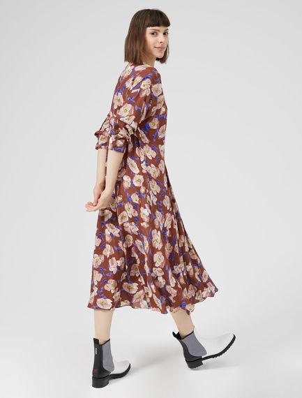 Crepe Floral Dress