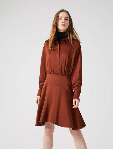 Bias-cut Satin Shirtdress Sportmax