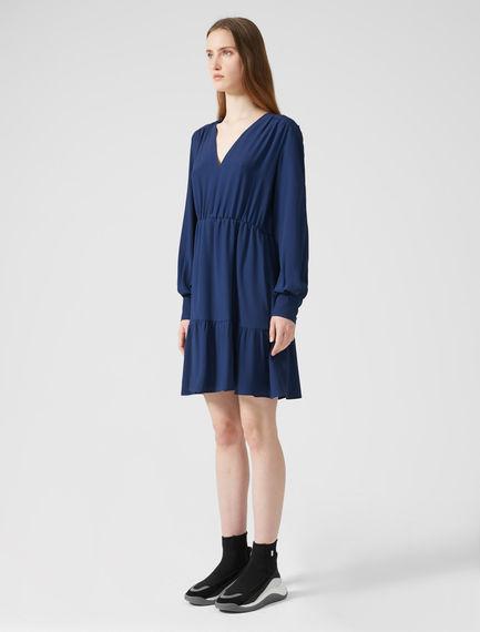 Tiered Crêpe A-Line Dress