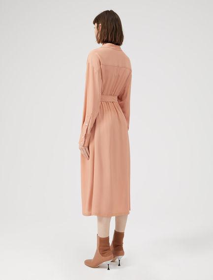 Duster-Style Silk Shirtdress