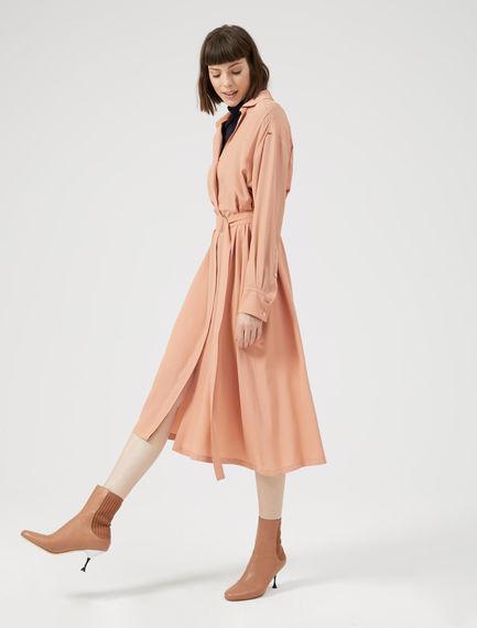 Duster-Style Silk Shirtdress Sportmax