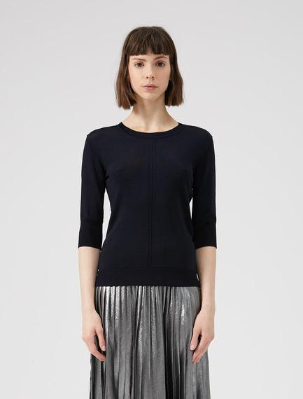 Drop Stitch Viscose Sweater