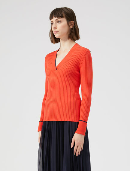 Viscose Knit Cricket Sweater