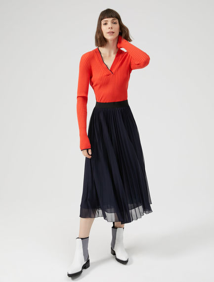 Sunray Pleat Midi Skirt Sportmax