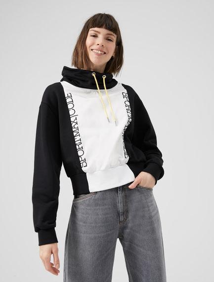 Monochrome Hooded Sportmax Code Sweatshirt Sportmax