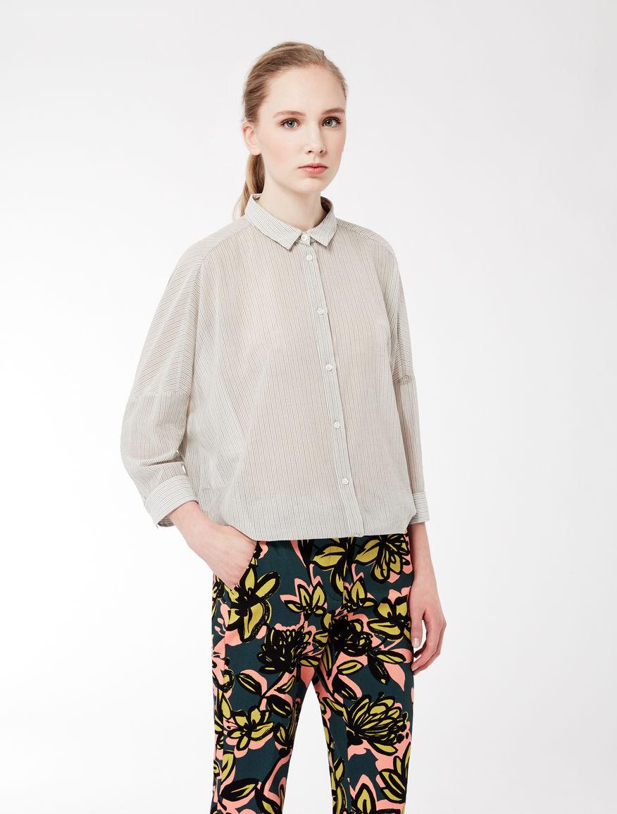 Cotton voile maxi blouse Weekend Maxmara