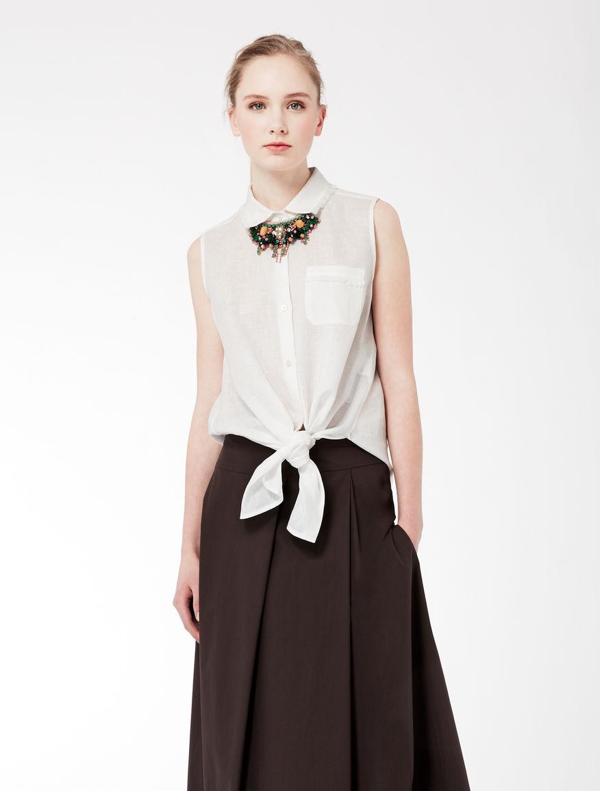 Sleeveless linen shirt Weekend Maxmara