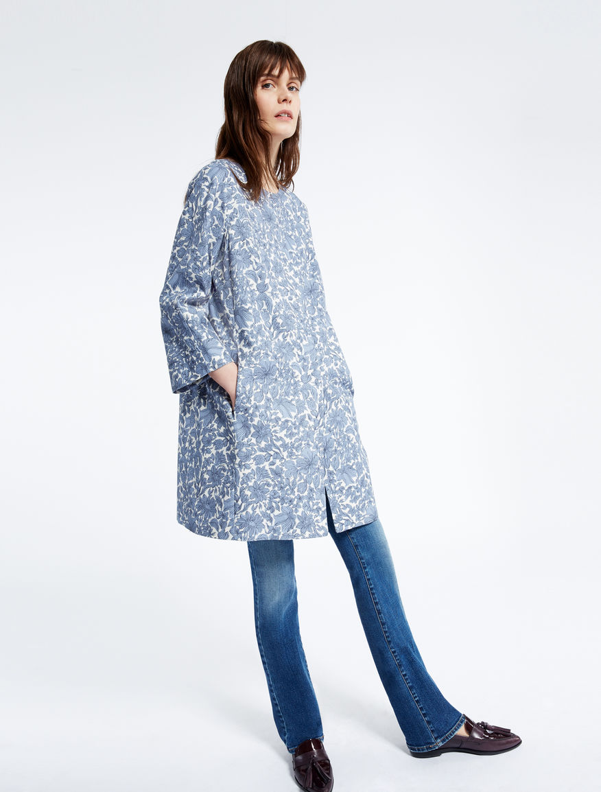 Cotton basketweave duster coat Weekend Maxmara