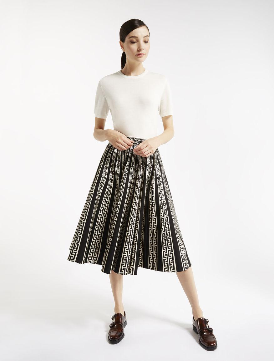Printed cotton and viscose skirt Weekend Maxmara