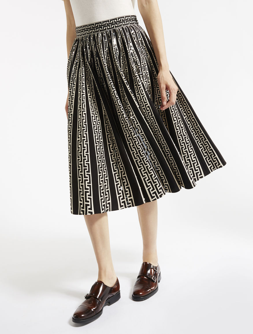 Printed cotton and viscose skirt Weekend Maxmara