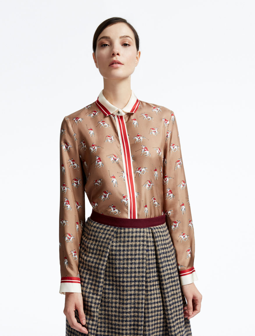 Printed pure silk shirt Weekend Maxmara