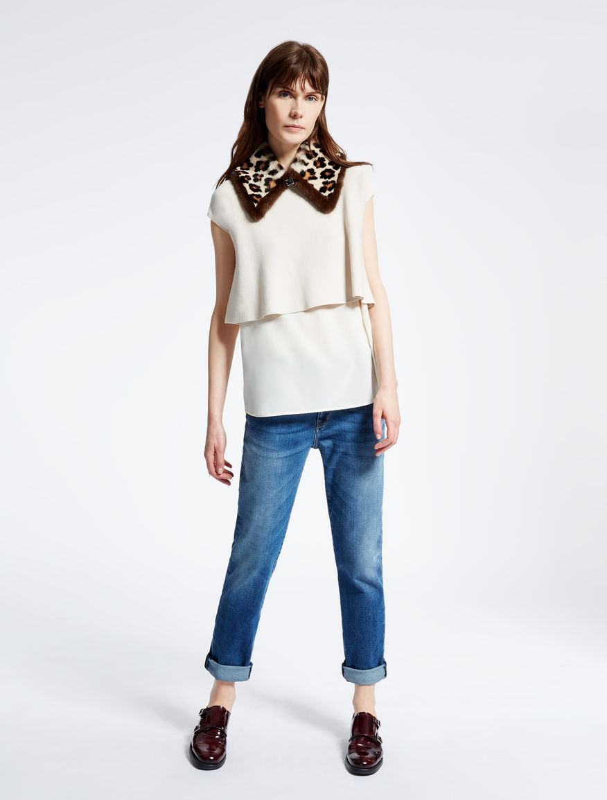 Knit and crêpe de chine T-shirt Weekend Maxmara