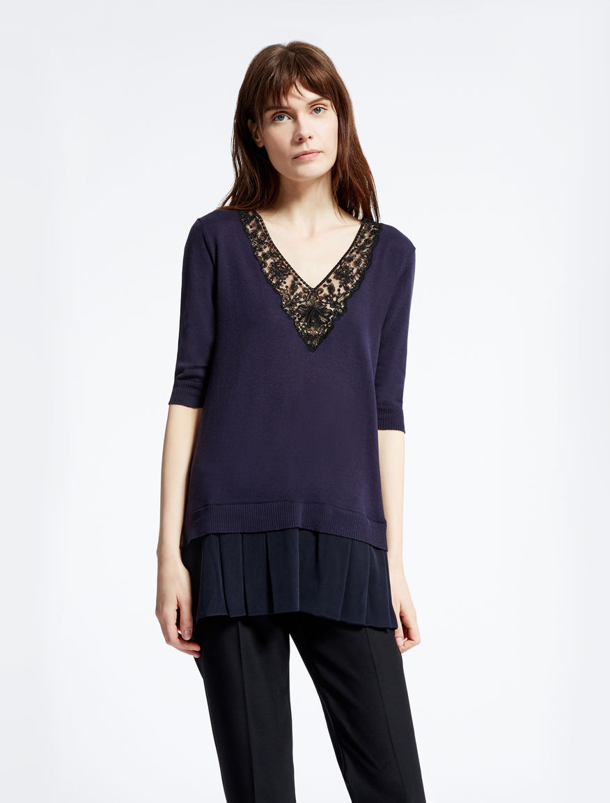 Silk and cotton knit shirt Weekend Maxmara