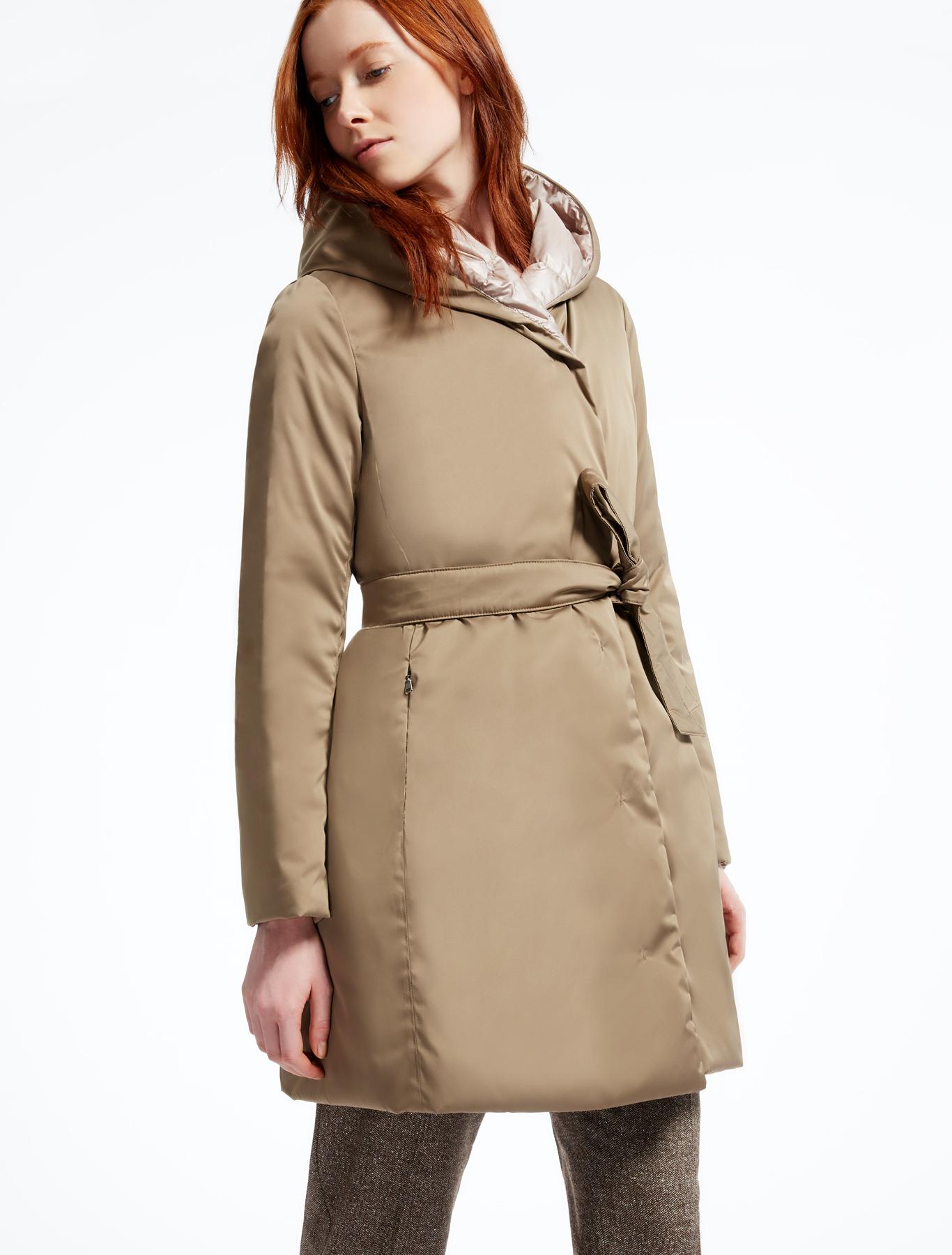 reversible down jacket hazelnut brown weekend max mara. Black Bedroom Furniture Sets. Home Design Ideas