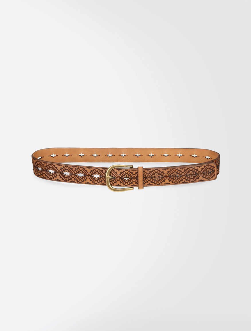 Laser-cut leather belt Weekend Maxmara