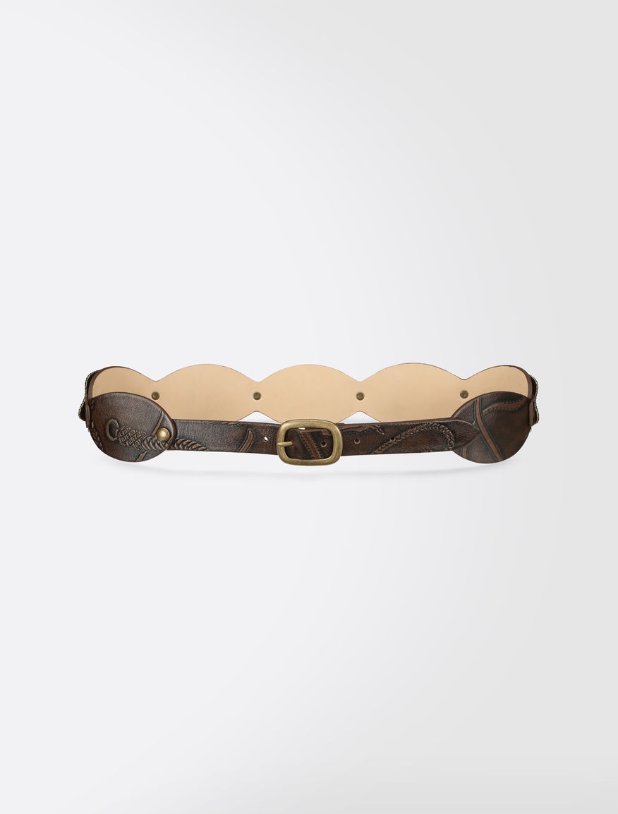 Printed leather belt Weekend Maxmara