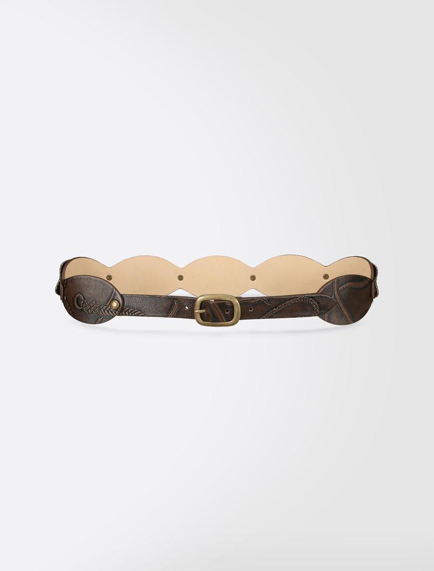 Printed leather belt Weekend Maxmara