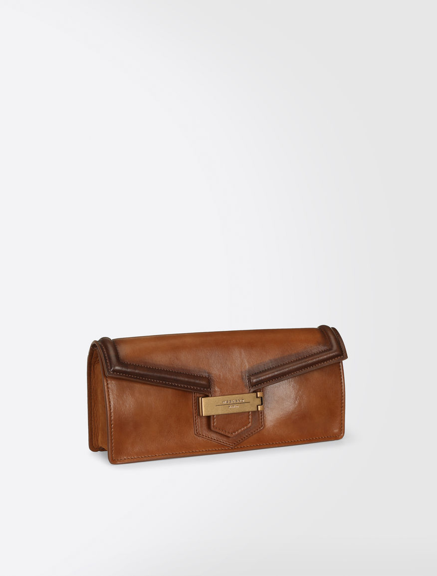 Shiny leather and suede clutch bag Weekend Maxmara