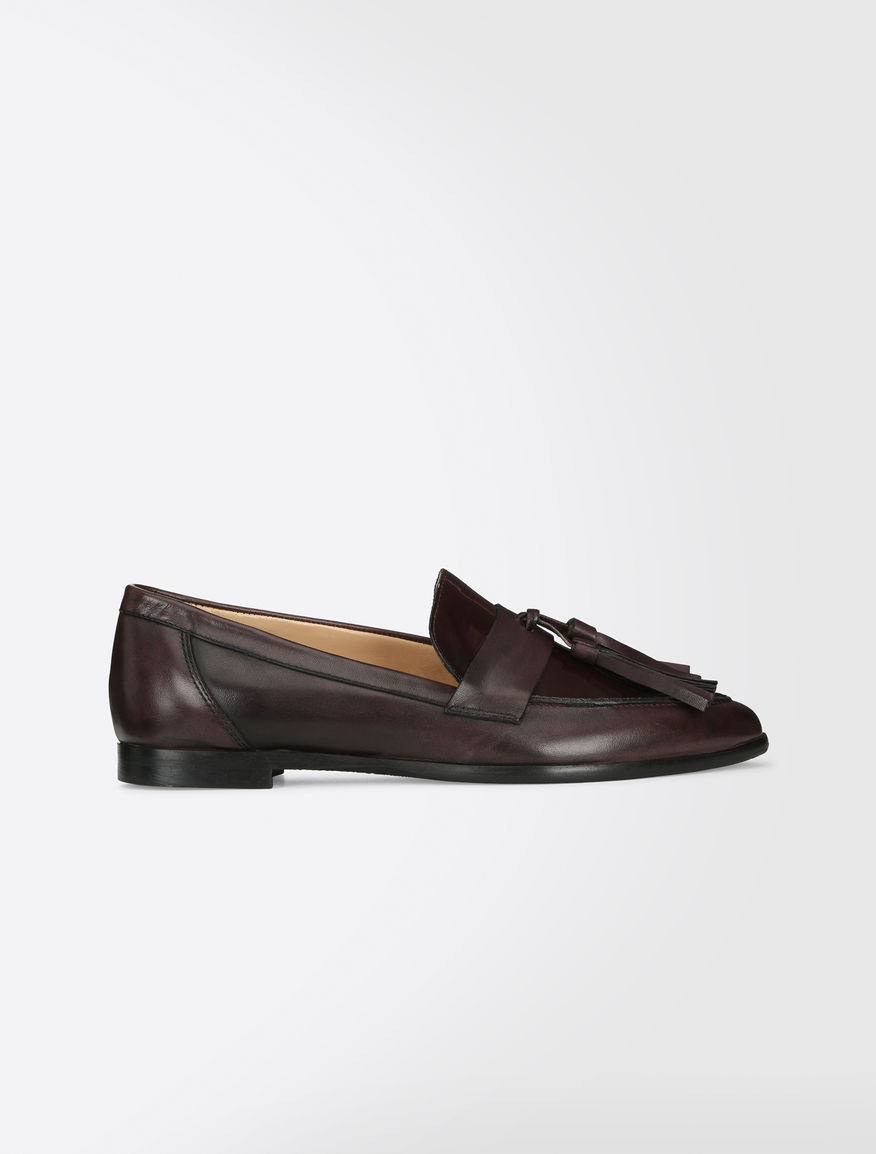 Leather and patent moccasins Weekend Maxmara