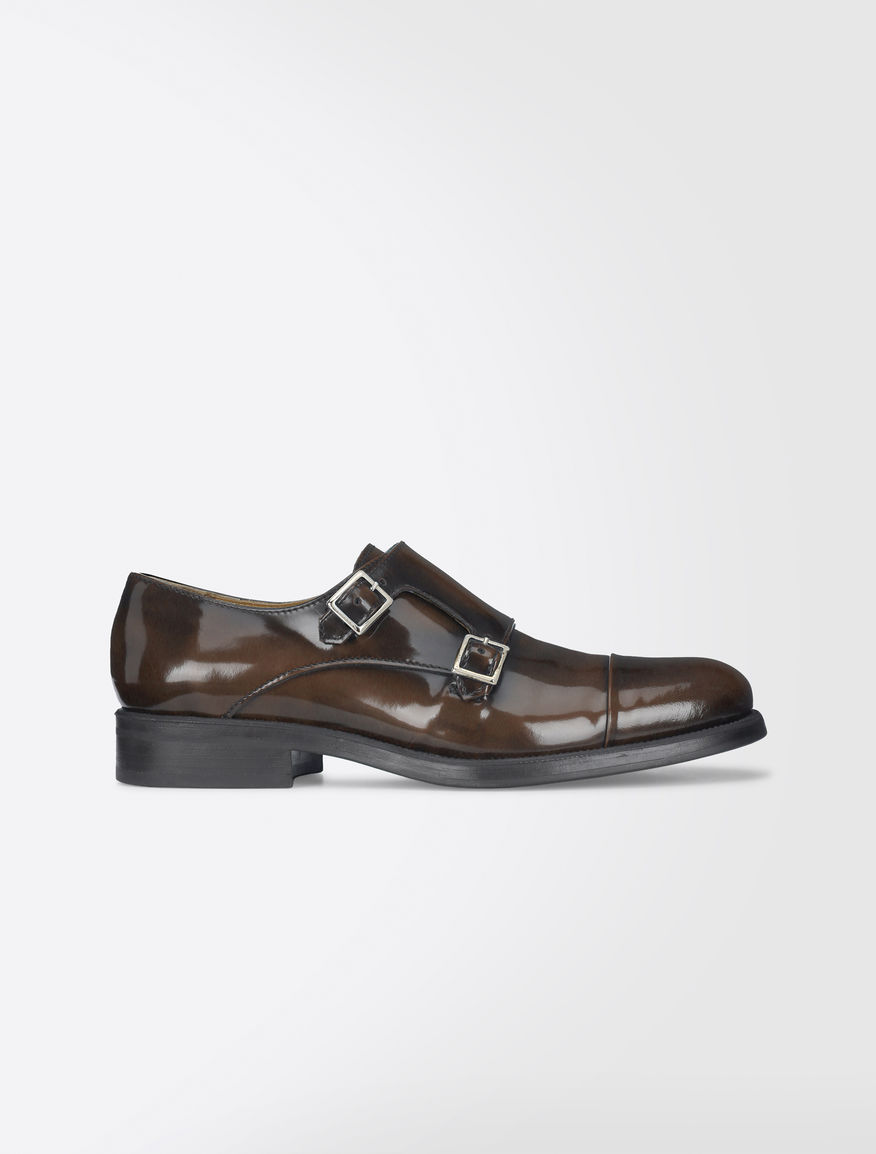 Shiny leather monk strap shoes Weekend Maxmara