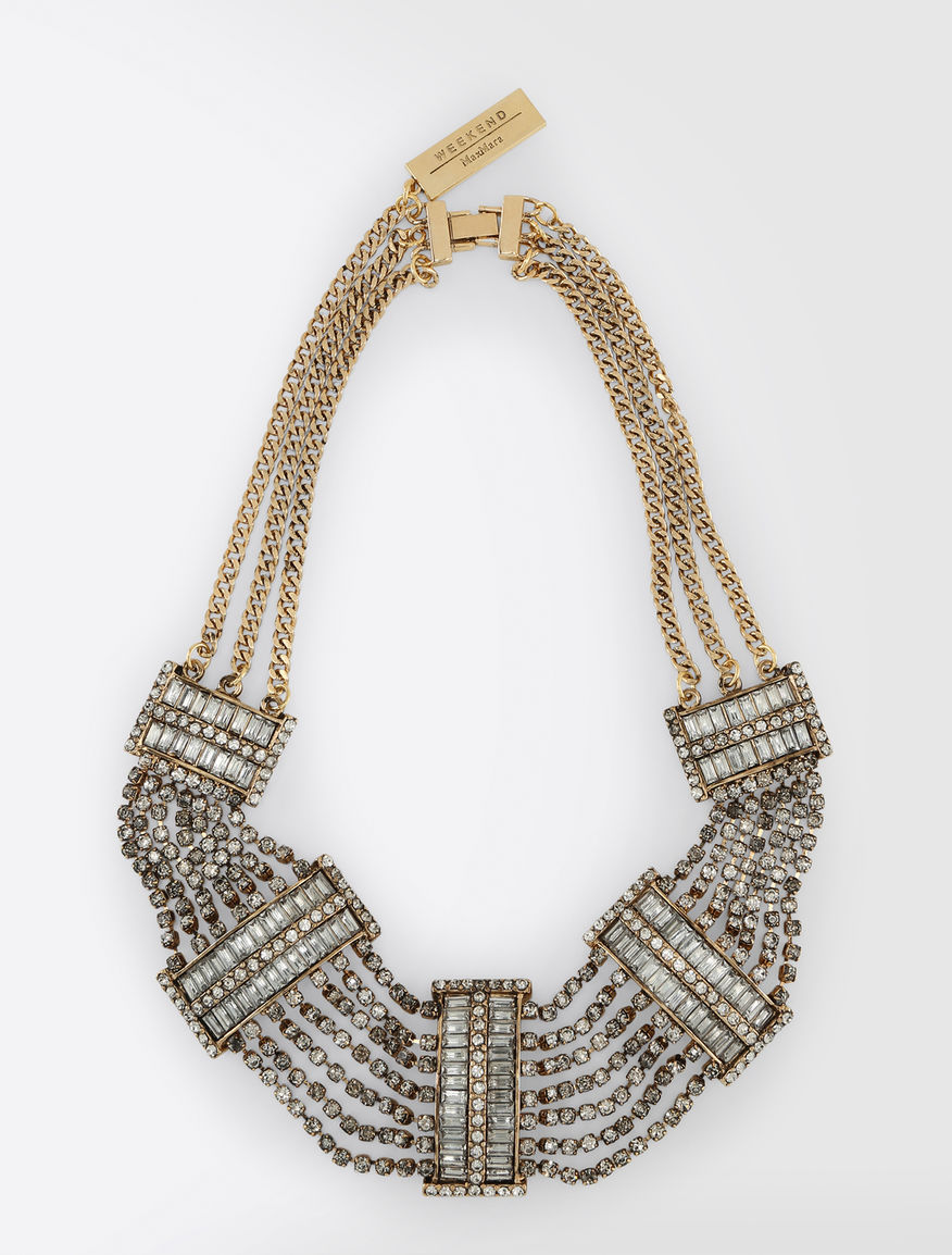Metal and rhinestone necklace Weekend Maxmara