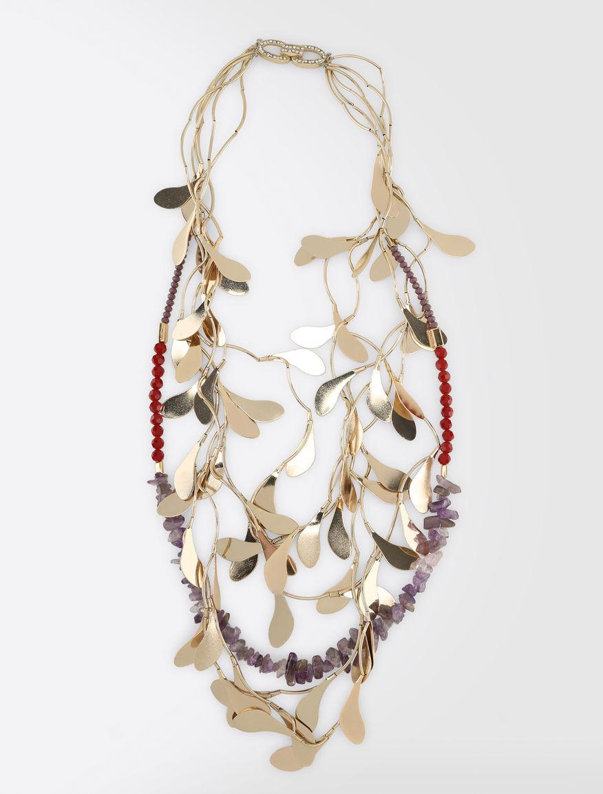 Metal leaf necklace Weekend Maxmara