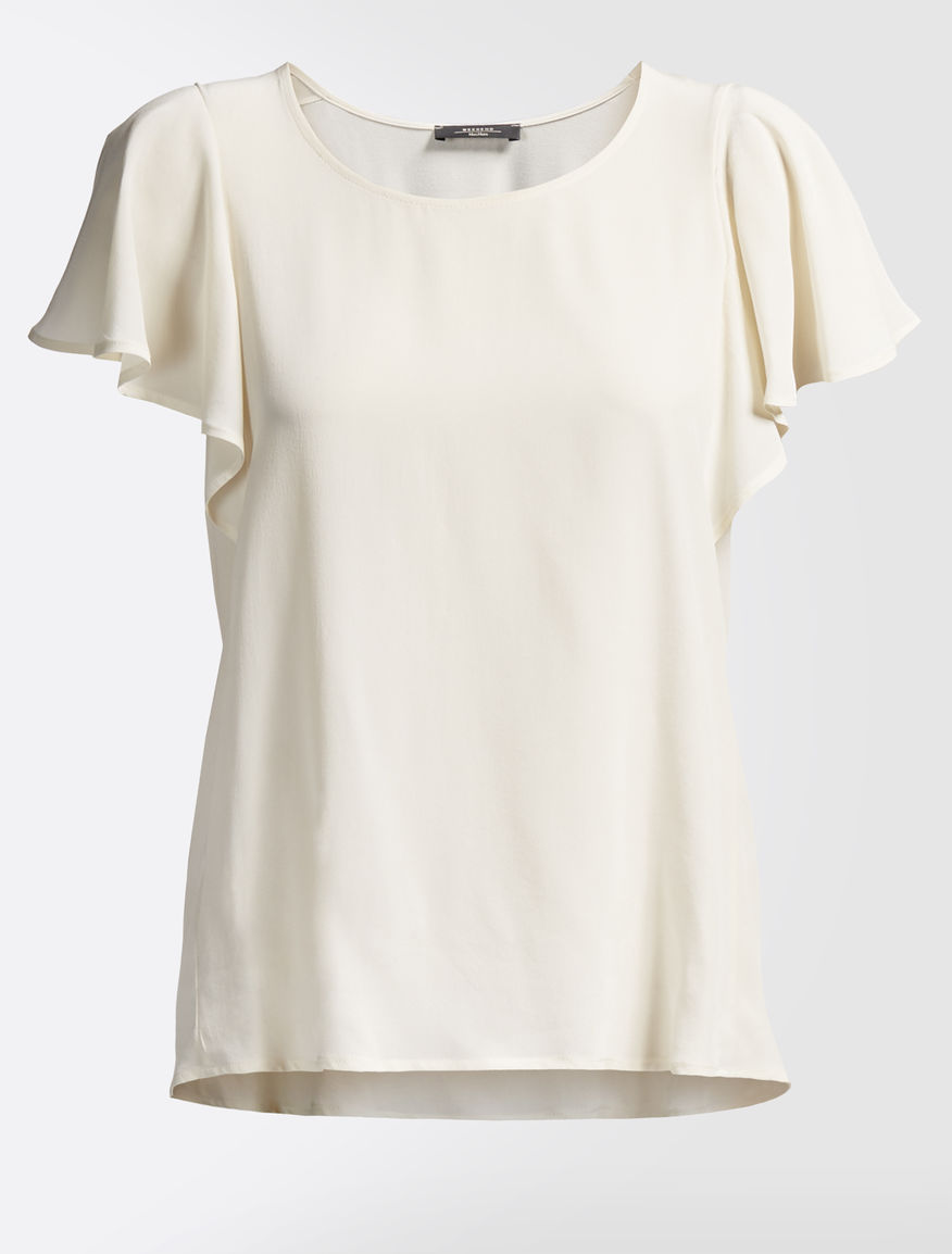 Silk crêpe de chine T-shirt Weekend Maxmara
