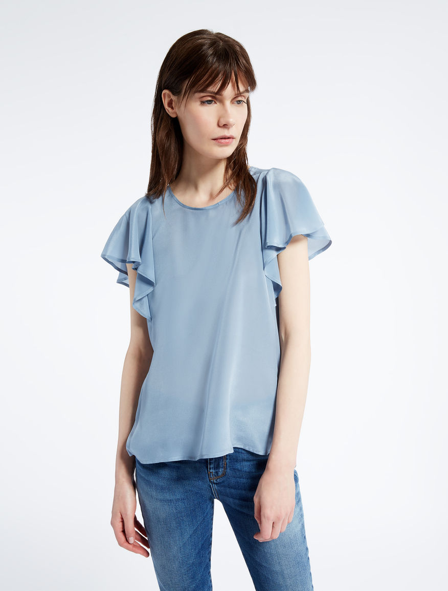 Silk crêpe de chine T-shirt Weekend Maxmara