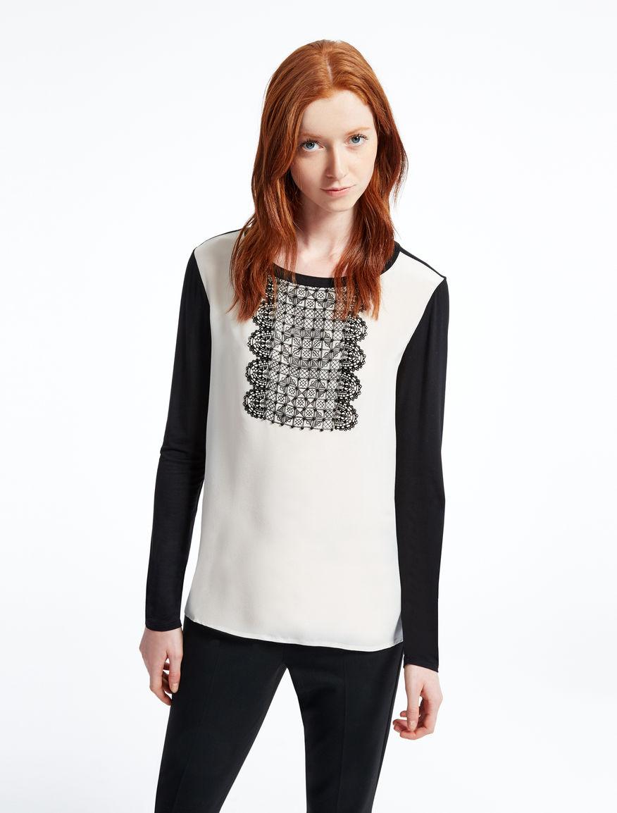 Silk and jersey blouse Weekend Maxmara