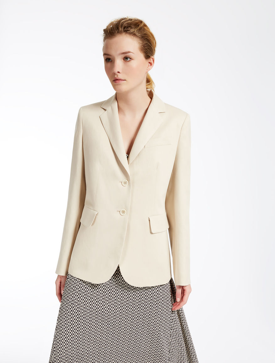 Linen and cotton jacket Weekend Maxmara