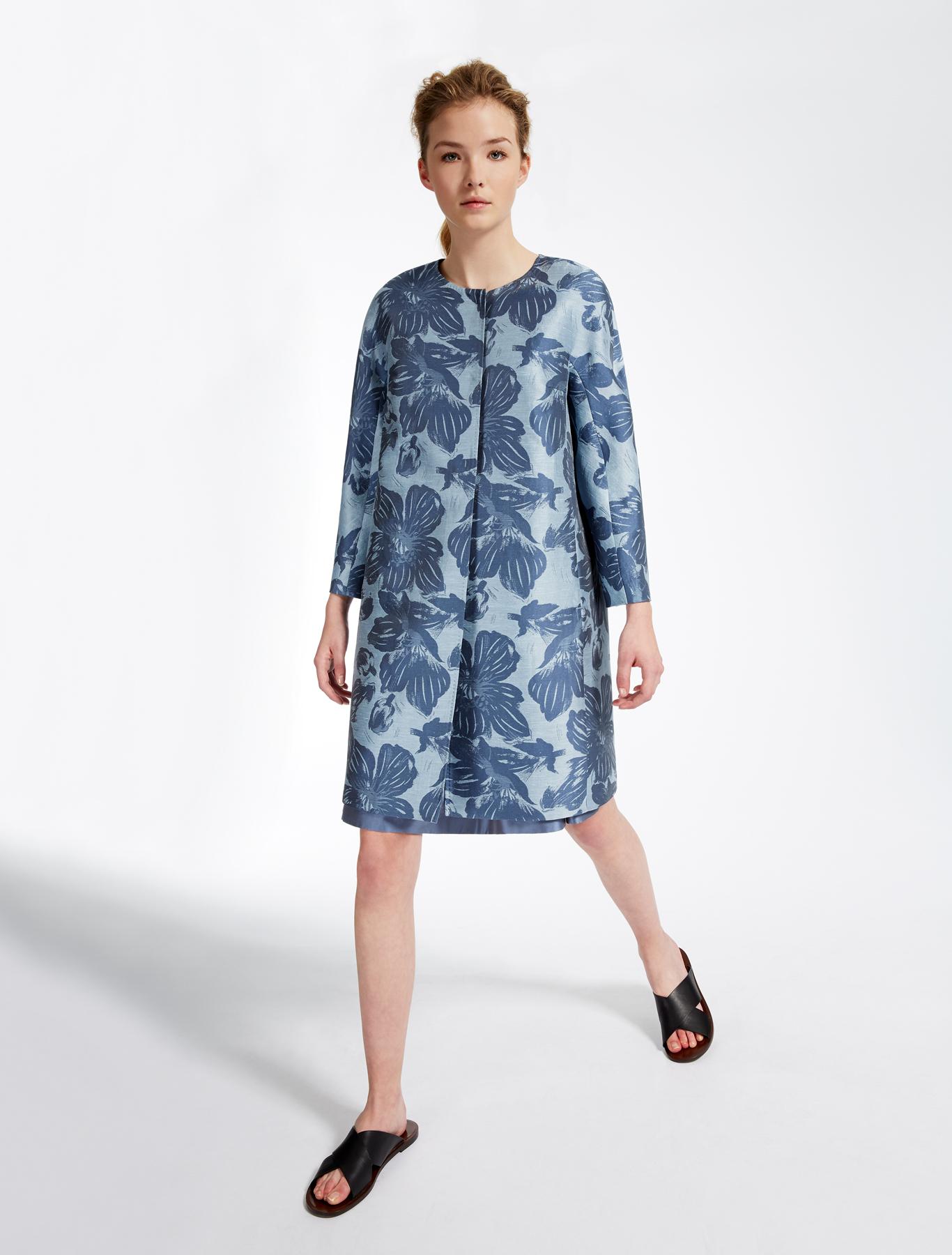 Jacquard duster coat, light blue - Weekend Max Mara