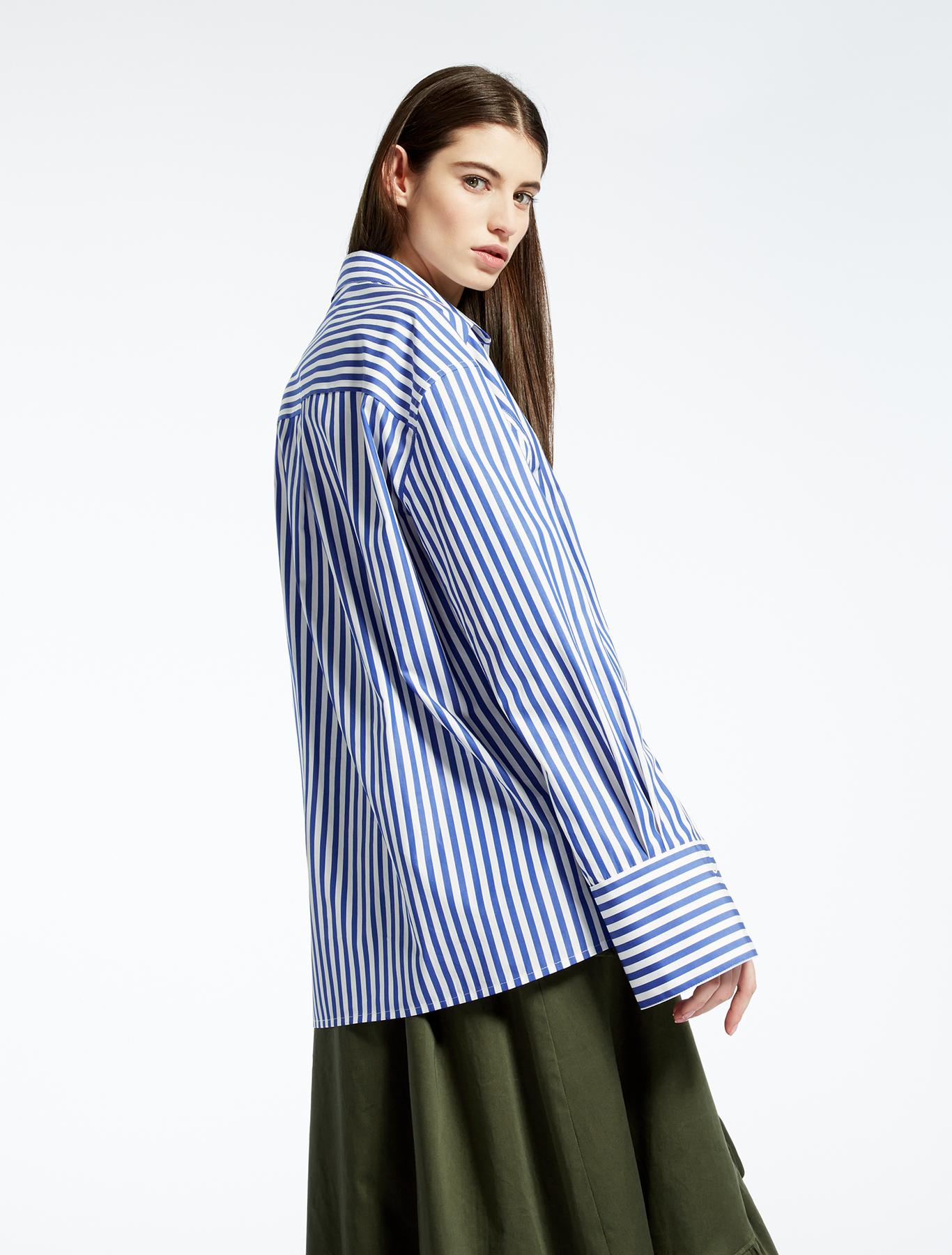 Cotton poplin shirt ultramarine weekend max mara for What is a poplin shirt
