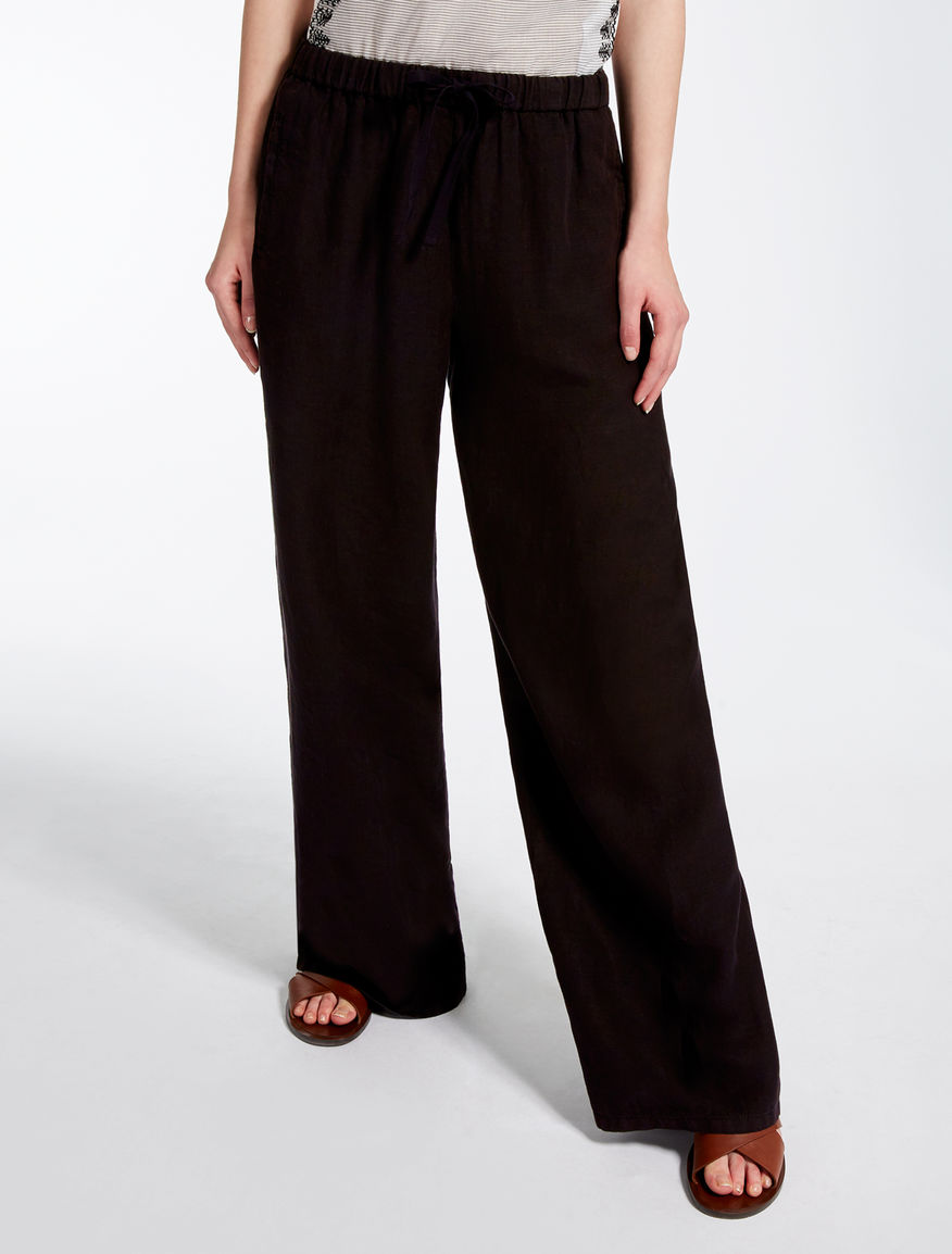 Pantaloni in puro lino Weekend Maxmara