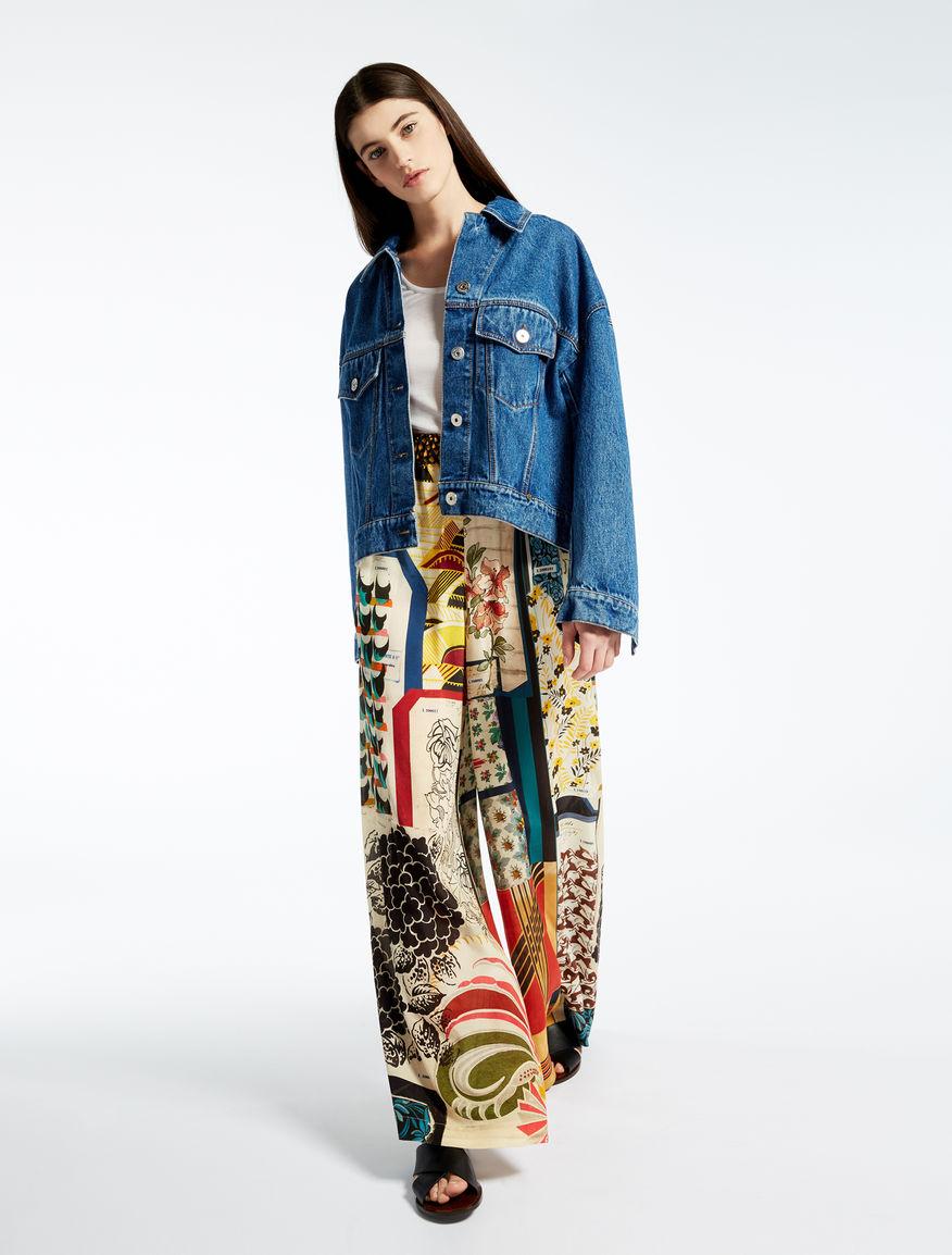 Silk crêpe de chine trousers Weekend Maxmara