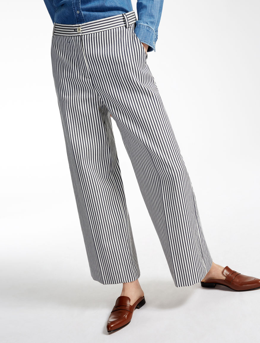 Cotton blend trousers Weekend Maxmara