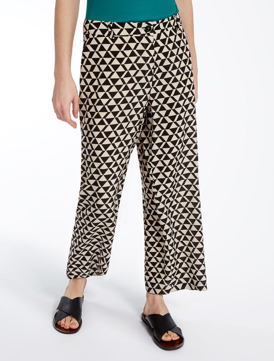 Silk crêpe de chine trousers Weekend Maxmara