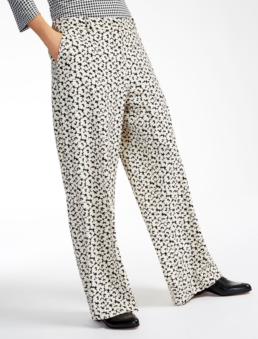 Printed cady trousers Weekend Maxmara