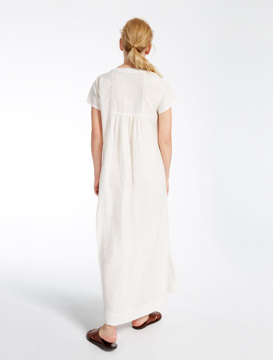 pure linen dress white weekend max mara. Black Bedroom Furniture Sets. Home Design Ideas