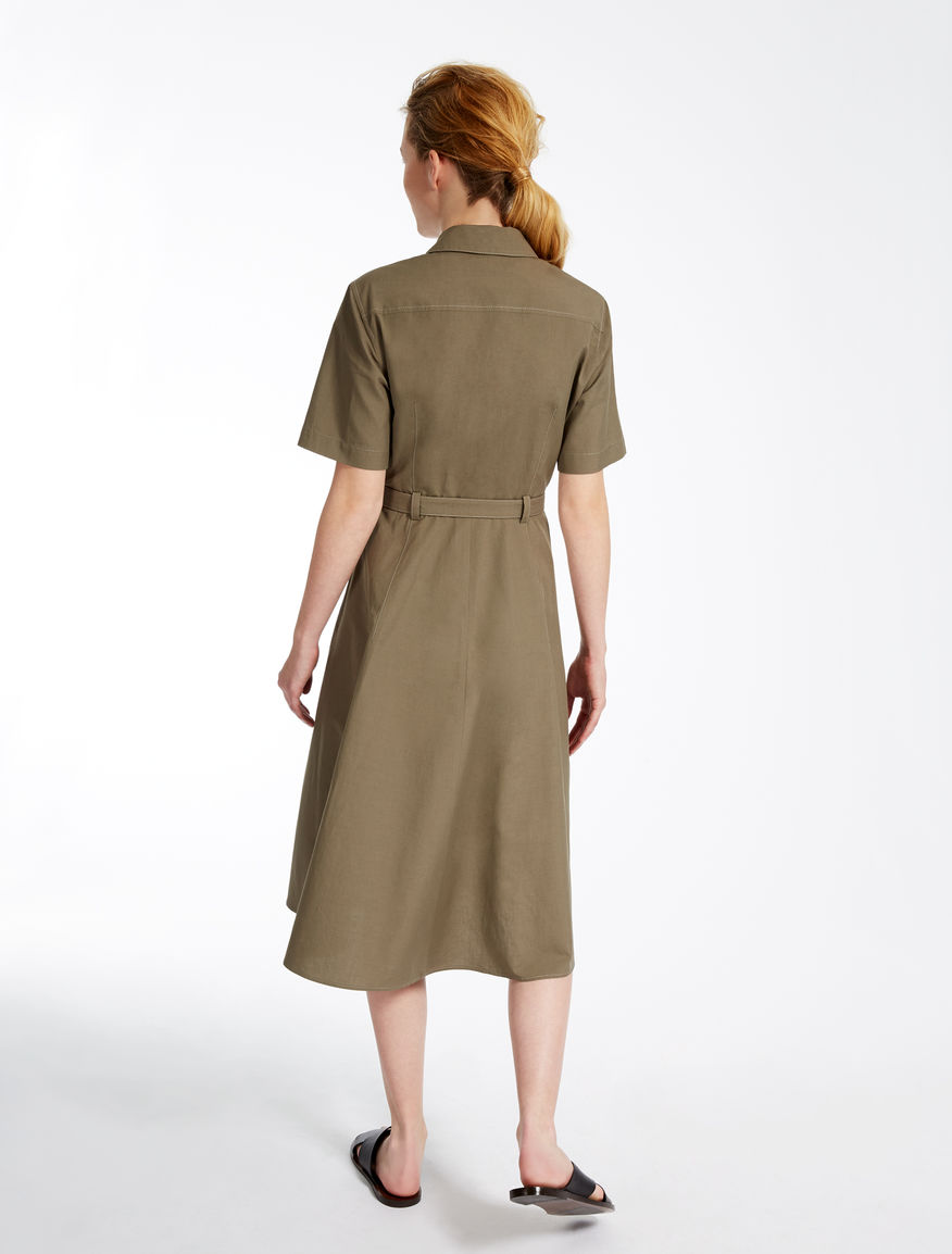 Cotton and linen dress Weekend Maxmara