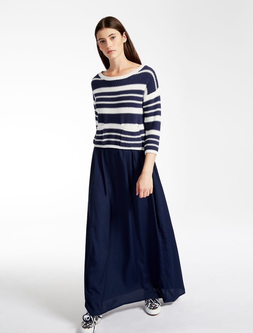 Cotton and crêpe de chine dress Weekend Maxmara