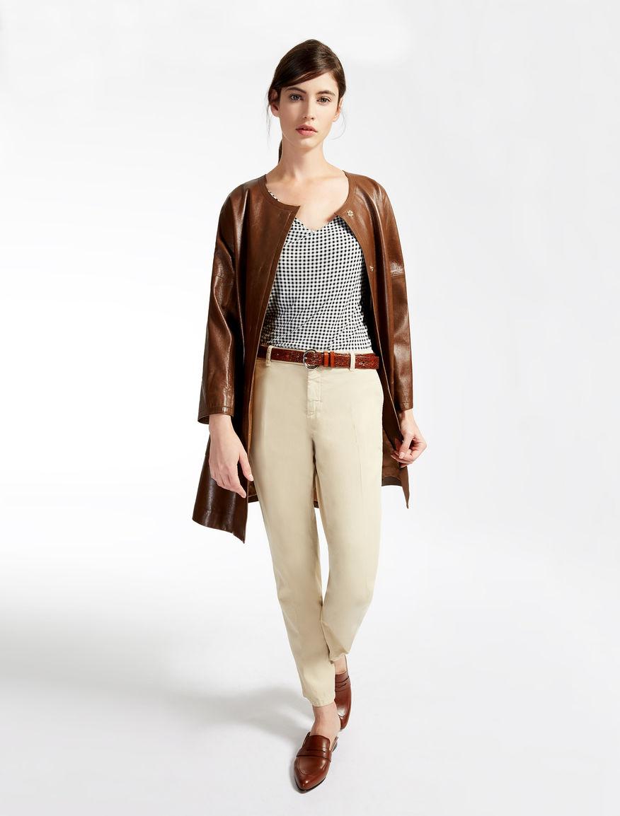 Leather coat Weekend Maxmara