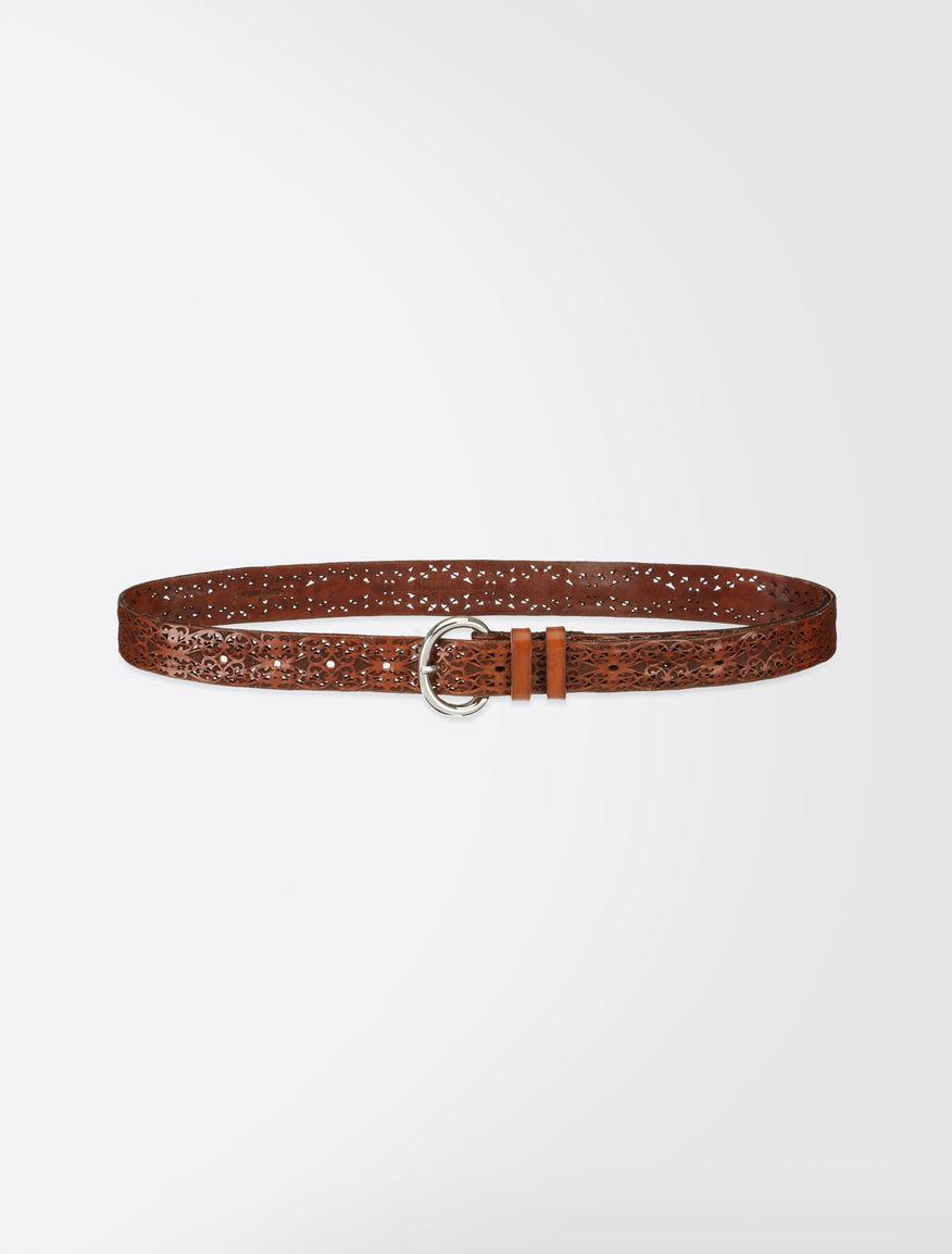 Laser-cut leather belt Weekend Maxmara