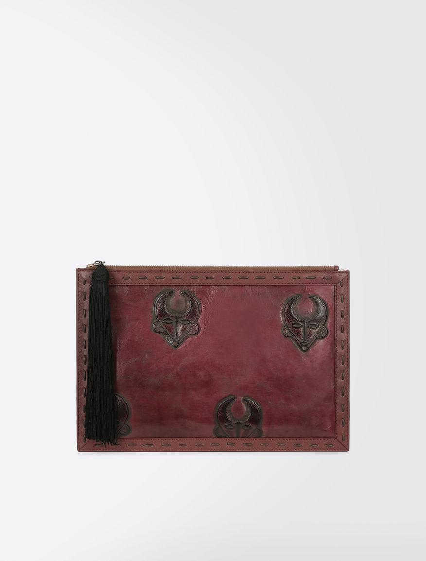 Printed leather clutch Weekend Maxmara