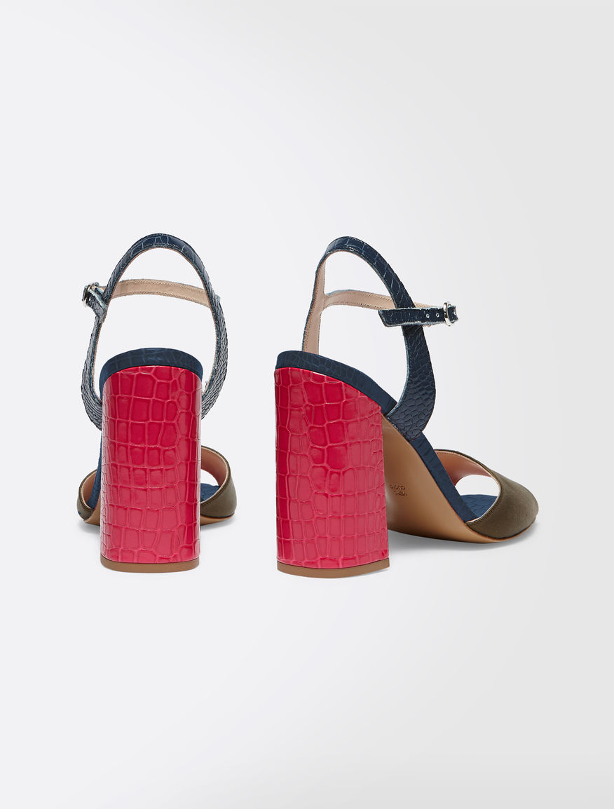 Sandals in crocodile-print leather Weekend Maxmara