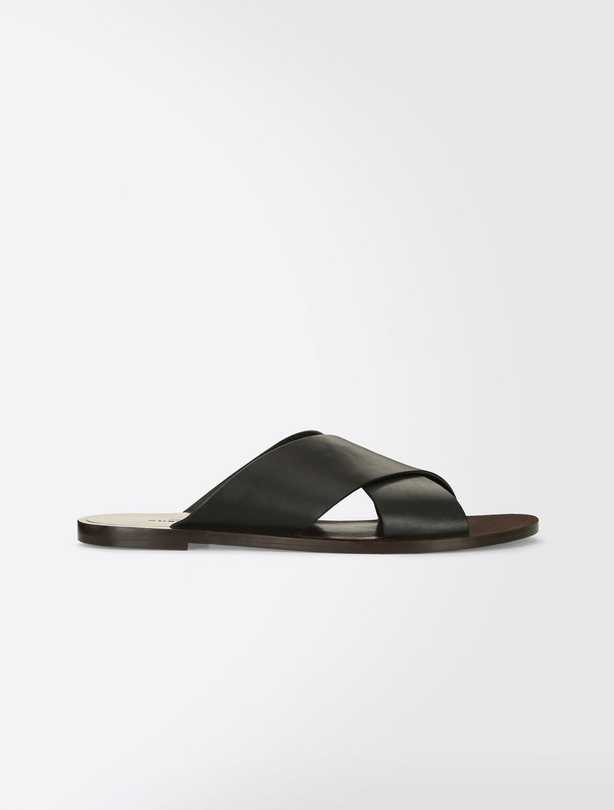 Leather slipper shoes Weekend Maxmara